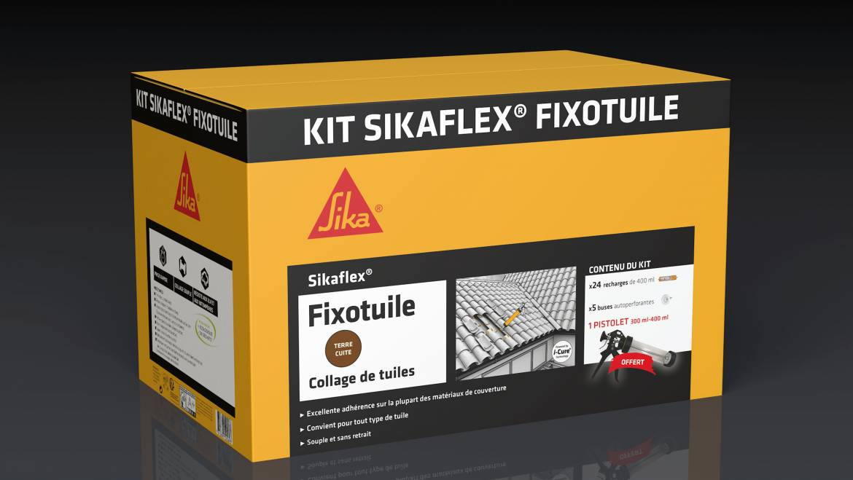 Le kit Sikaflex Fixotuile de Sika