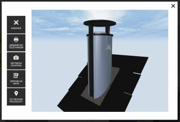 Sortie de toit Cat-Design, le configurateur de Cheminées Poujoulat